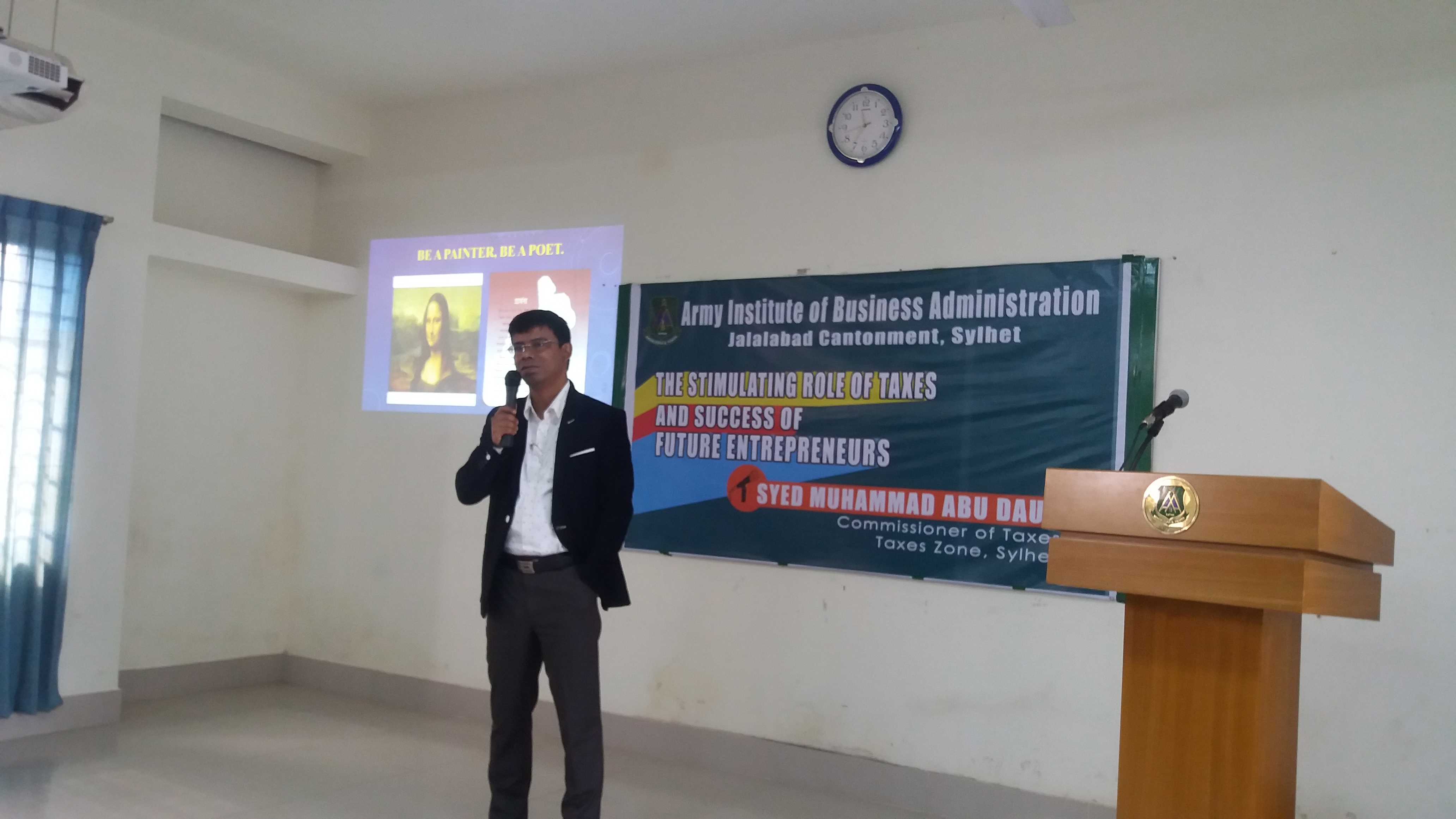 Session on Taxation conducting by Hon'ble Commissioner of Taxes at AIBA, Sylhet